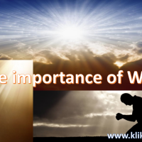 The importance of worship..