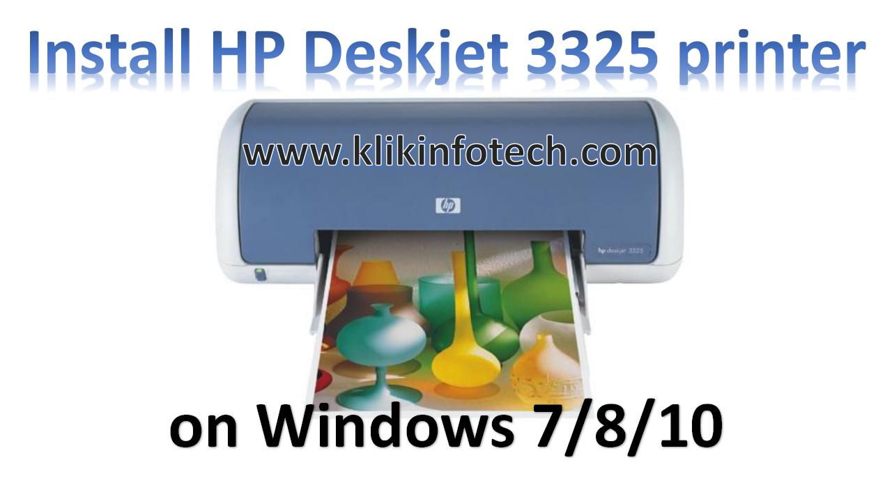 Hp deskjet 3320 драйвер windows 7 скачать