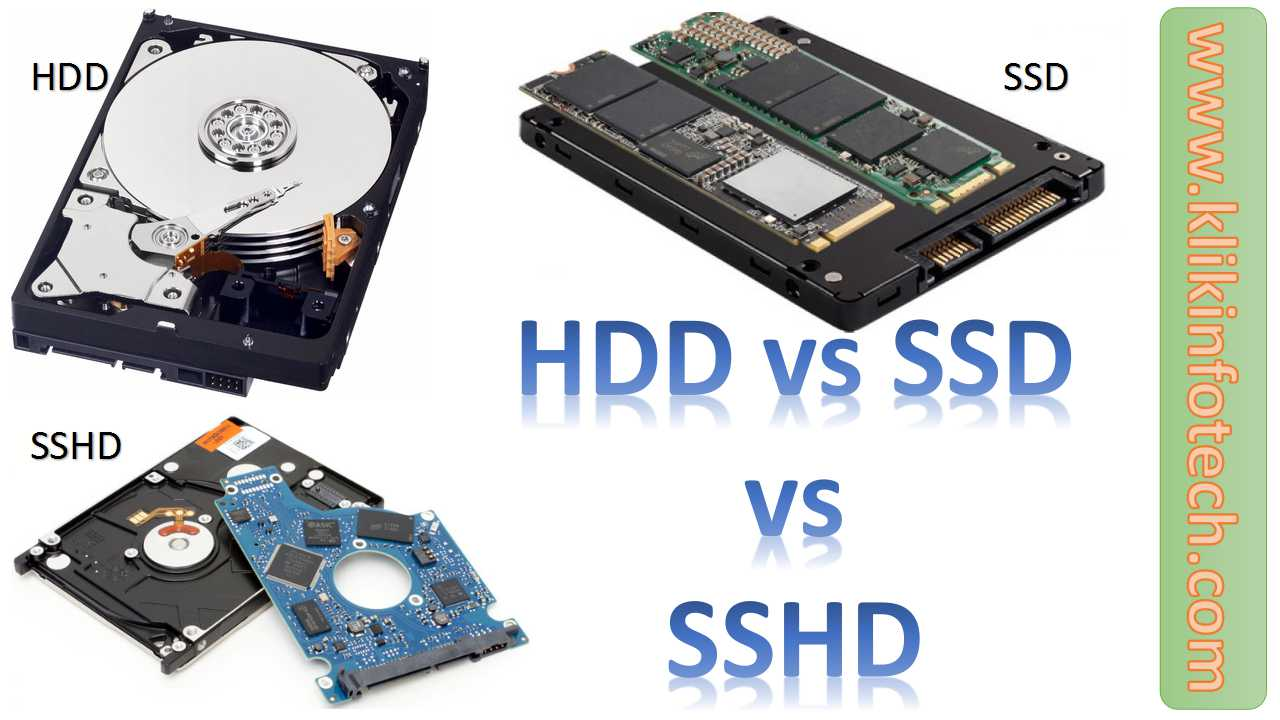 Comparison between HDD vs SSD vs SSHD