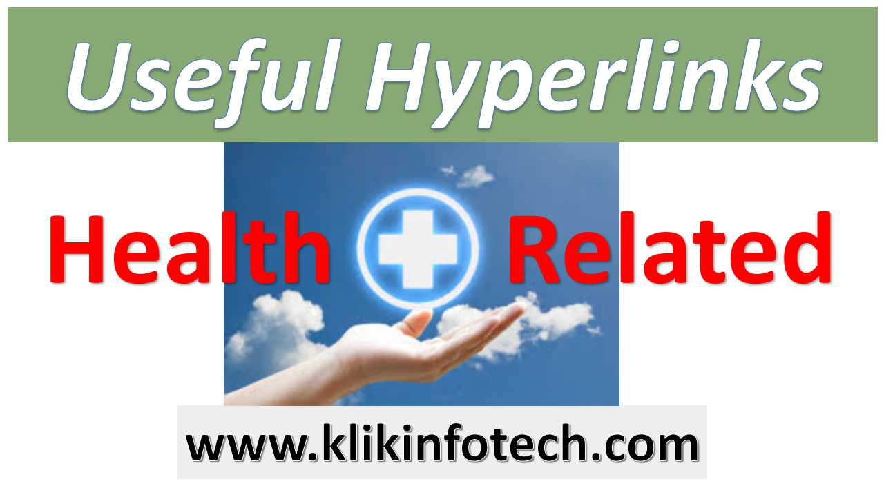 Useful Hyperlinks – Health Related
