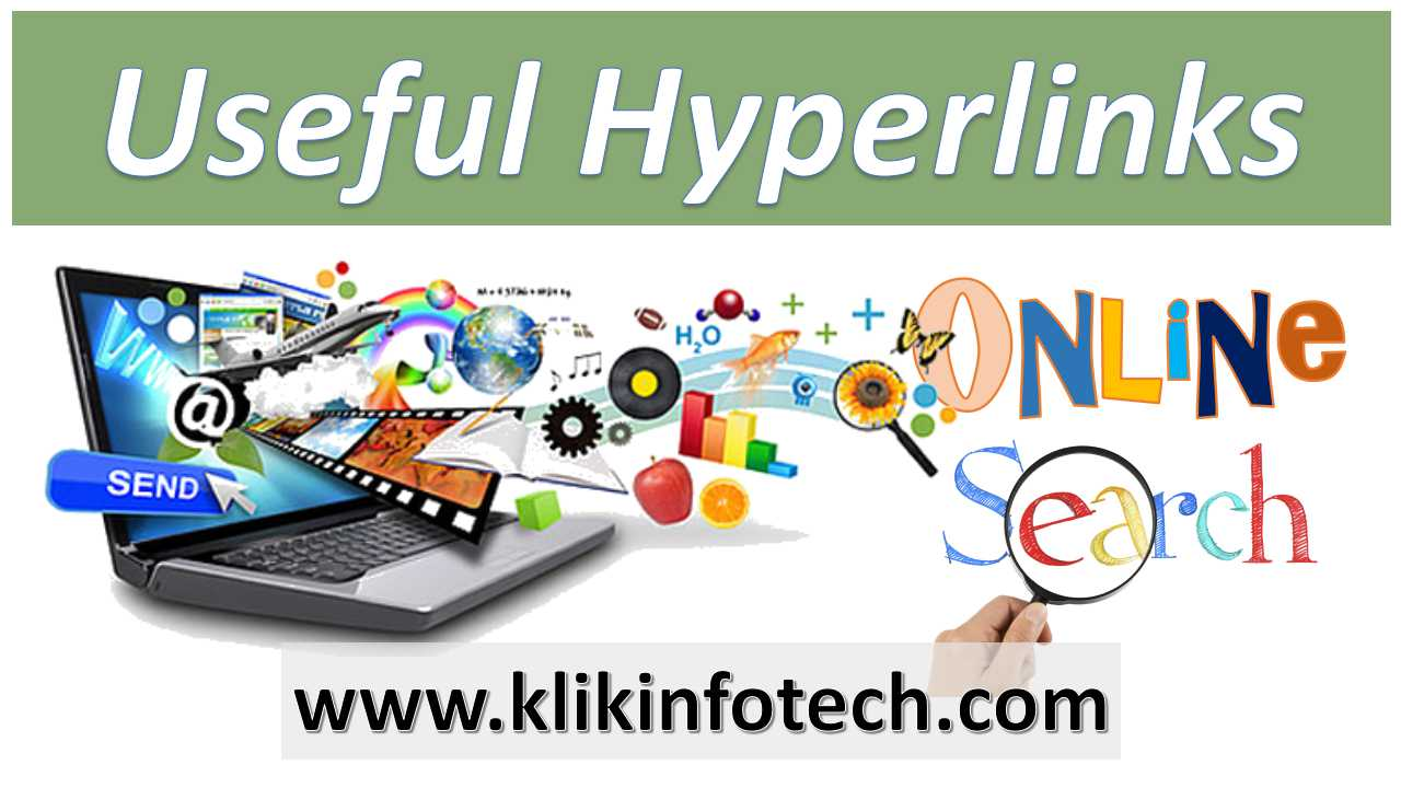 Useful Hyperlinks – Online Search