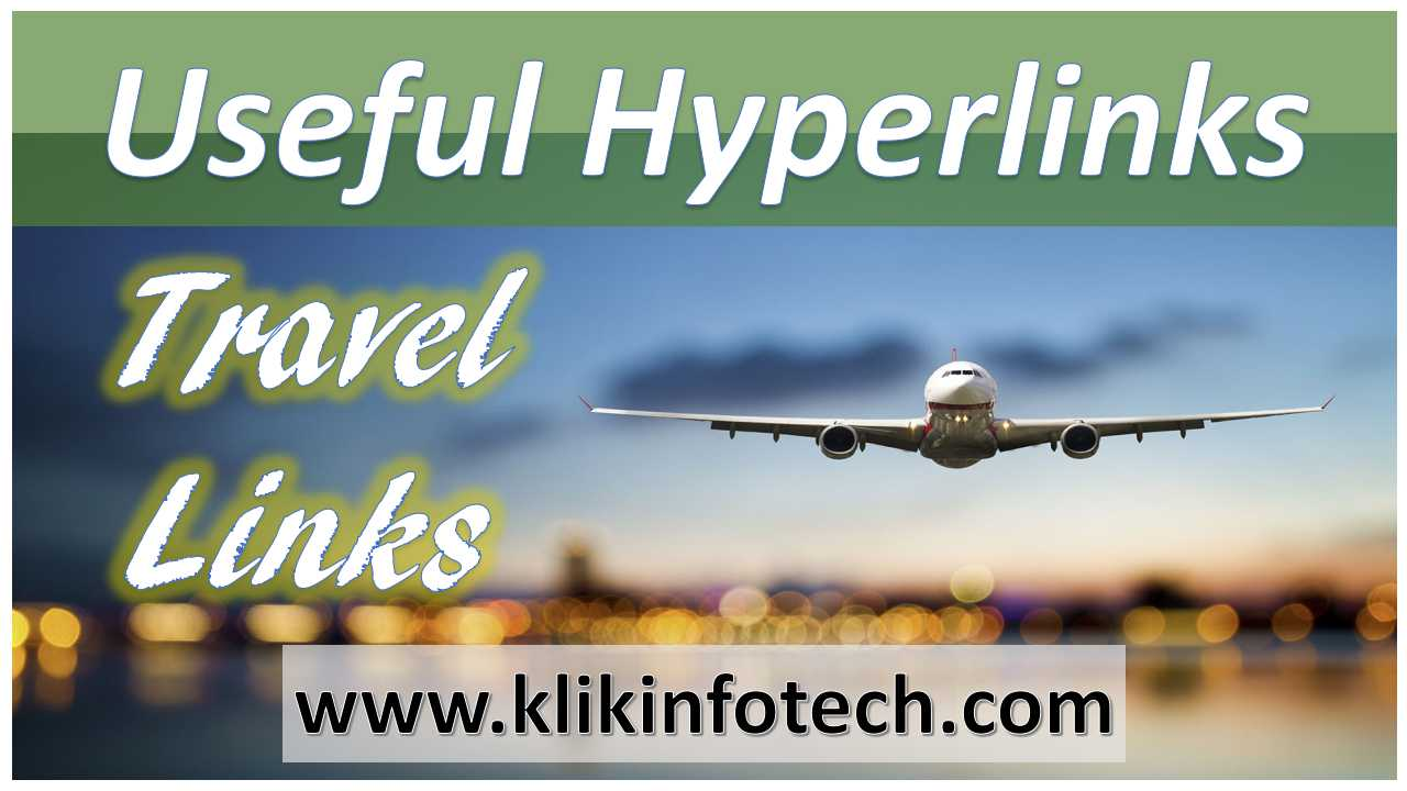 Useful Hyperlinks – Travel Links