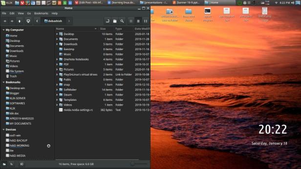 file manager on desktop