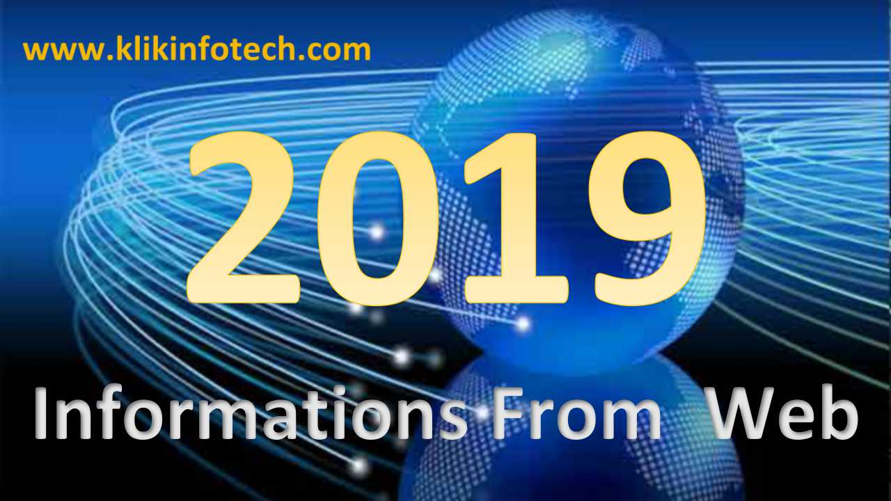 Informations from Web – 2019