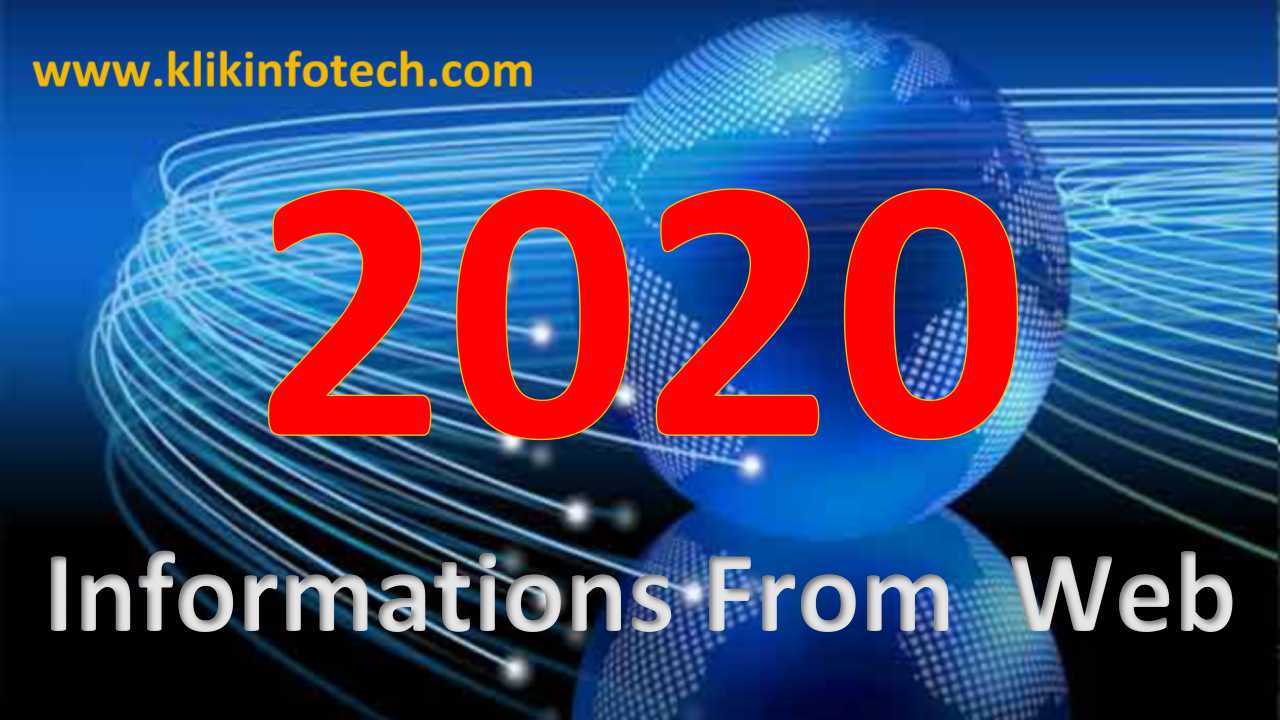 Informations from Web – 2020