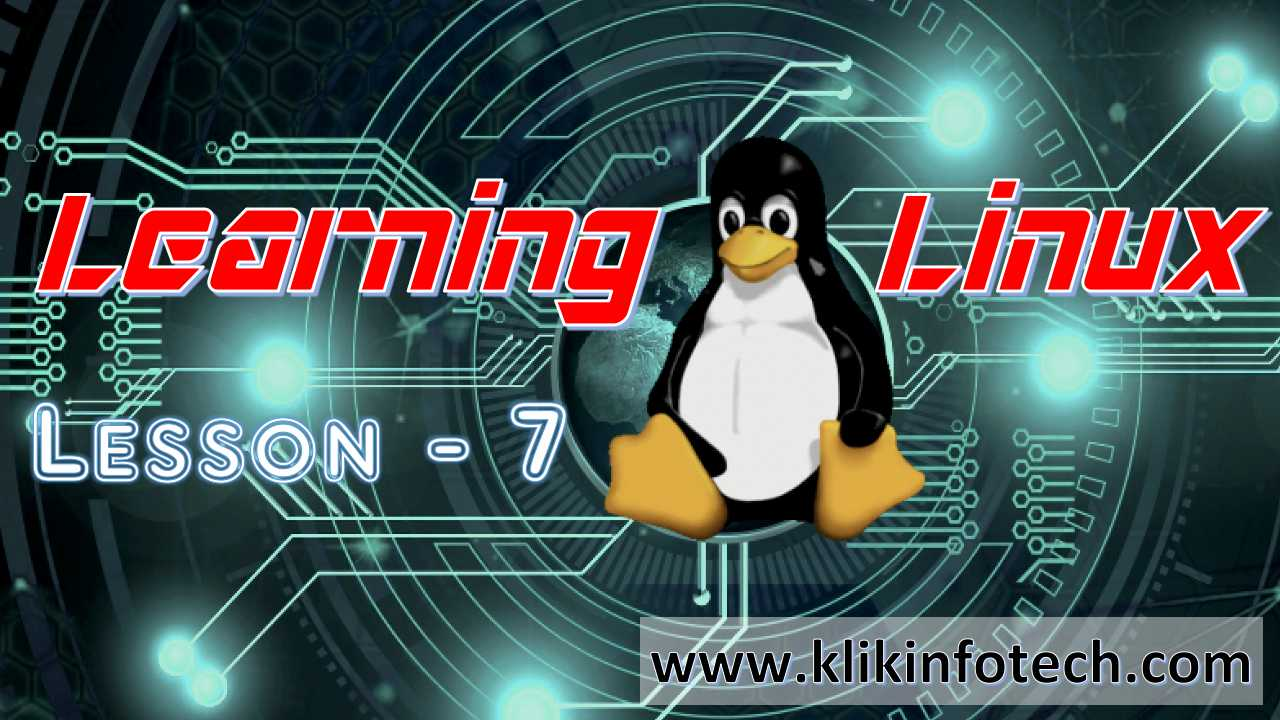 Learning Linux – Lesson 7
