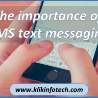 The Importance of SMS text messaging